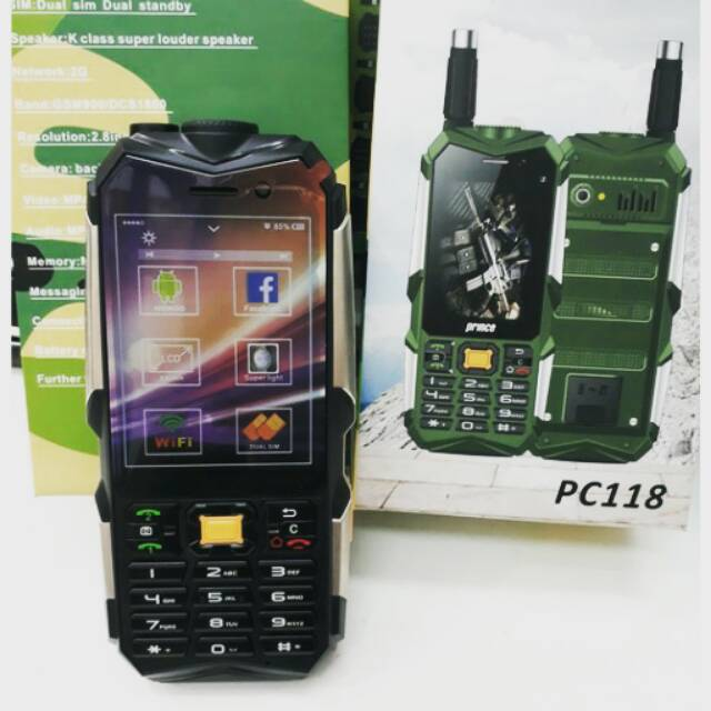 HP PRINCE PC118 / PRINCE PC 118 / PRINCE ANDROID / POWERBANK / HP UNIK / HP OUTDOOR | Shopee Indonesia