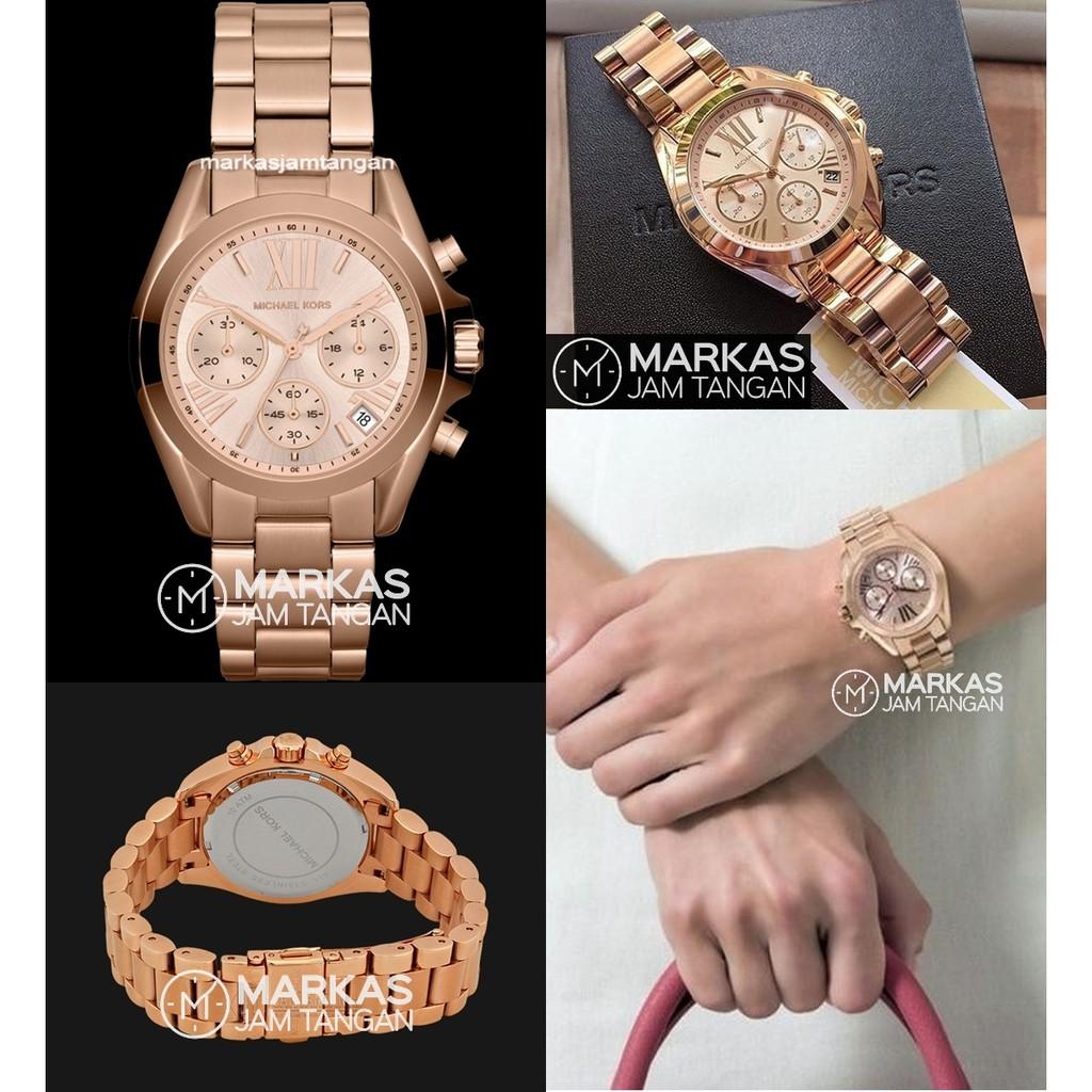 Jam Tangan Wanita Michael Kors MK6066 MK5799 MK6318 Bradshaw Chronograph Watch ORIGINAL