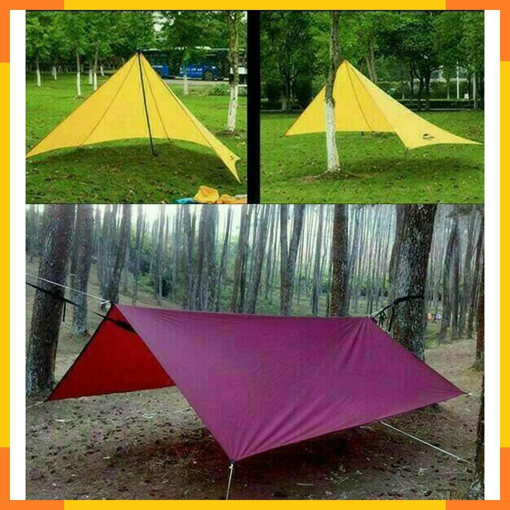 Flysheet Tenda Bivak Ponco Tenda Murah Set 3x4 M Tenda Kemah Waterproof Survival Shopee Indonesia