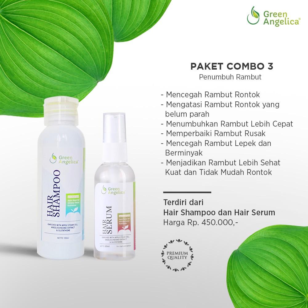 Green Angelica Combo 3 Shampo Rambut Rontok Ampuh Vitamin Penumbuh Dhianta Hair Terbaik Rusak Teruji Bpom Shopee Indonesia
