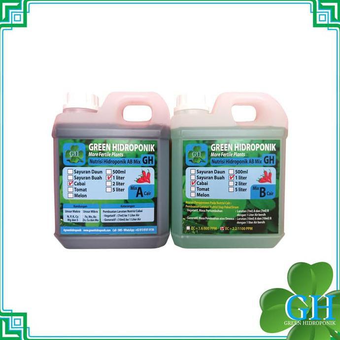 Diskon Nutrisi Hidroponik Cair Ab Mix Gh, Cabai, 1 Liter Diskon Termurah | Shopee Indonesia