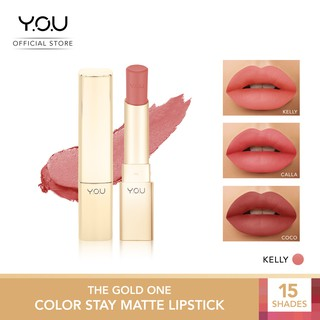 YOU The Gold One Color Stay Matte Lipstick 3.2g [Soft & Smooth Finish/All-day Comfort]