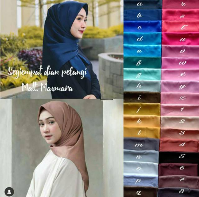 Jilbab Segiempat Dian Pelangi Shopee Indonesia