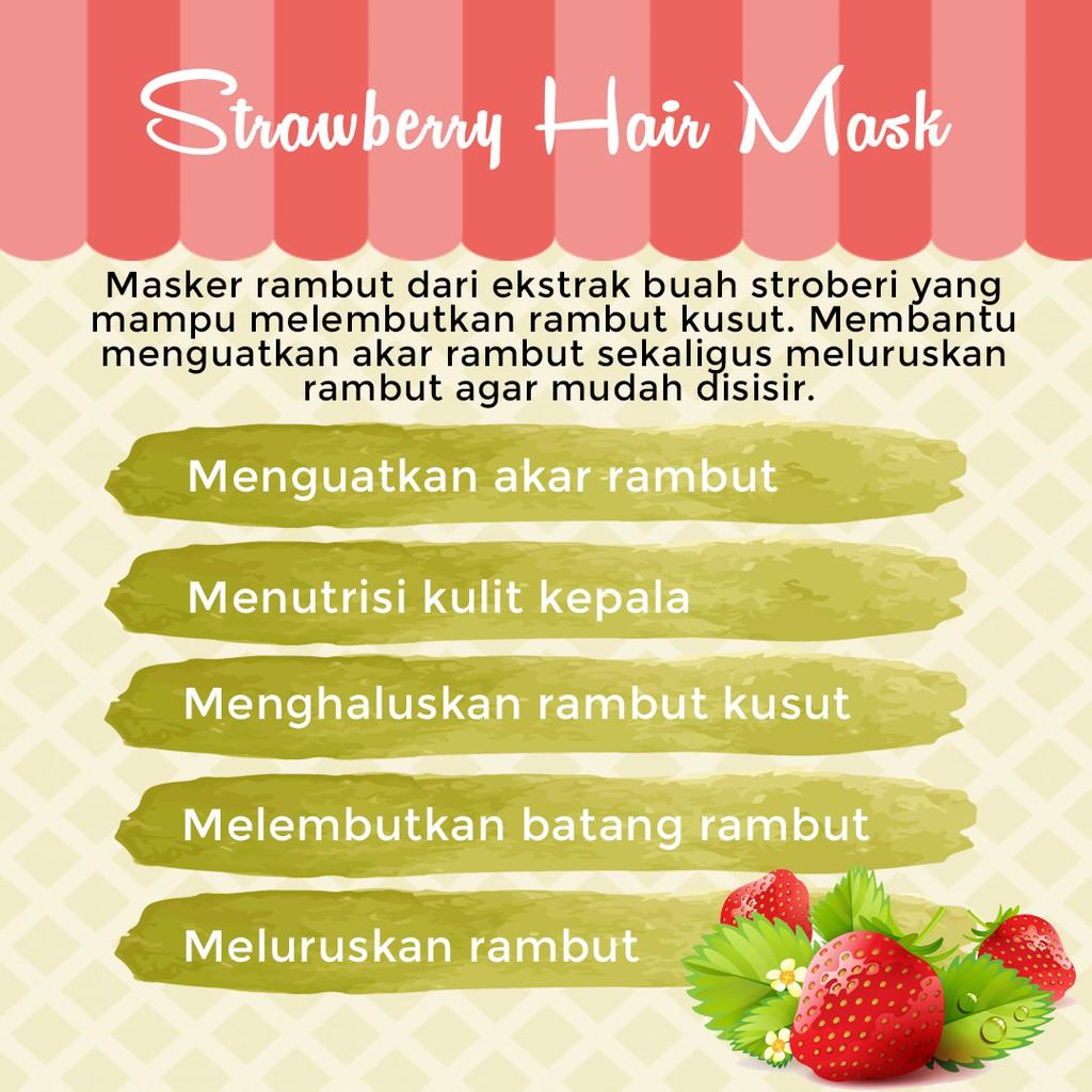 Strawberry Hair Mask Masker Rambut Stroberi Hair Spa Creambath Perawatan Rambut Kusut Picco Store Shopee Indonesia