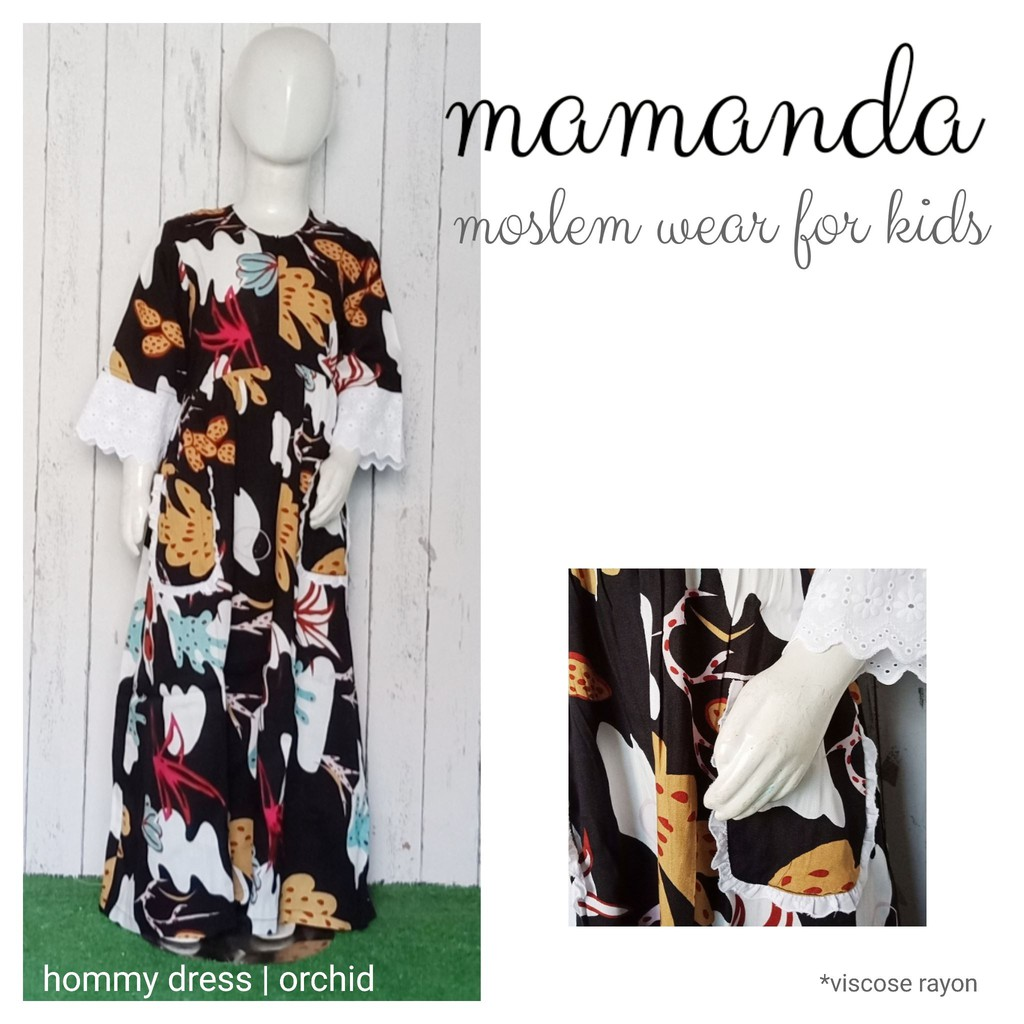 Gamis Anak Orchid Hommy Dress by Mamanda
