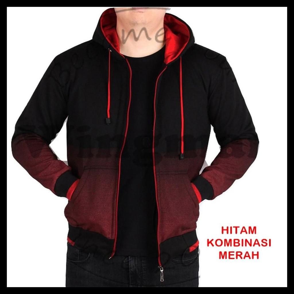 Daftar Harga Jaket Gradasi Hitam Biru Navy Kombinasi Warna Hoodie Zipper Polos Keren Sweater Pakaian Pria Wanita Celana Temukan Dan