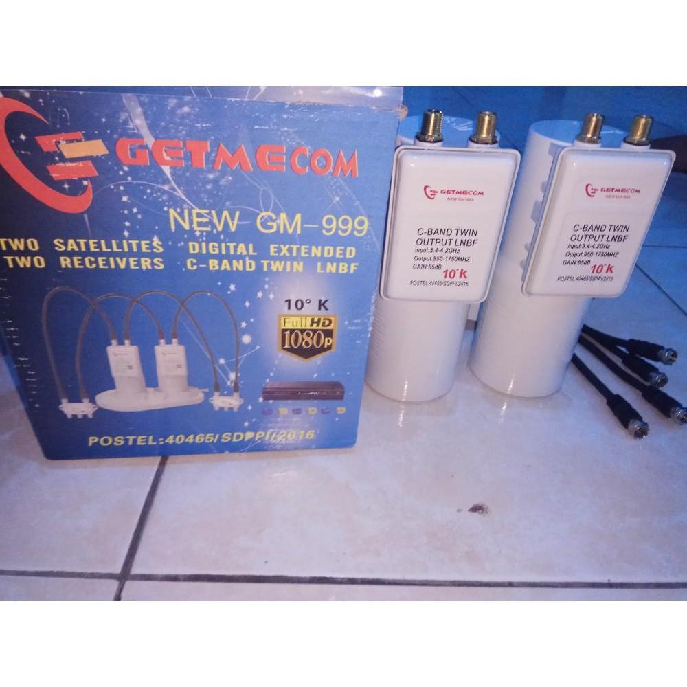 Kaonsat Lnb C Band Dual Out 2 Receiver Shopee Indonesia 13k 1 Satelit Parabola Lock