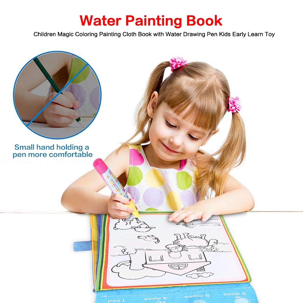 Lukisan Buku Mewarnai Lukisan Ajaib Dengan Air Menggambar Pen