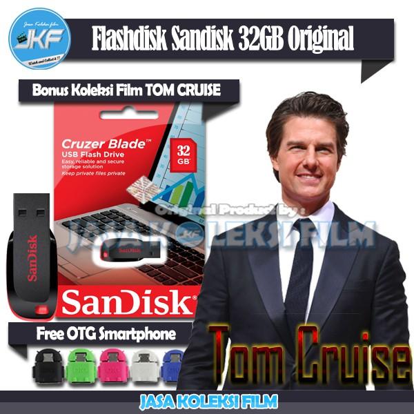 Flashdisk Sandisk 32gb Original Bonus Otg Dan Isi Koleksi Tom Cruise Terbaik Shopee Indonesia