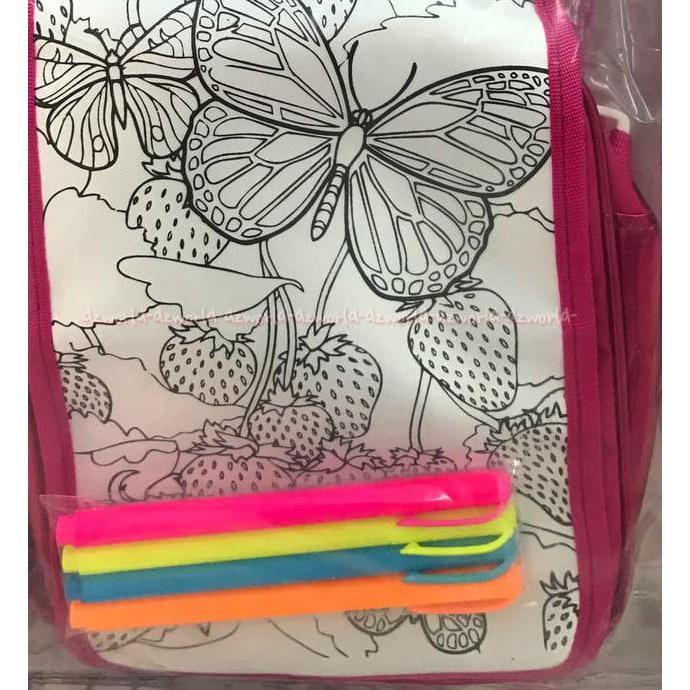 Hot Product Tas Mewarnai Tas Sendiri Coloring Your Own Bag