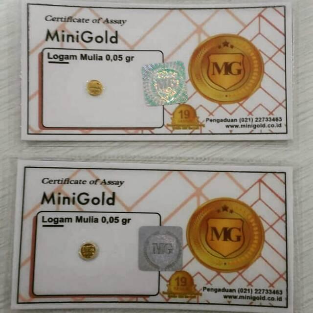 Zn201 Logam Mulia Lm Mini Gold Emas Murni 0 05 Gram 24 Karat Shopee Indonesia