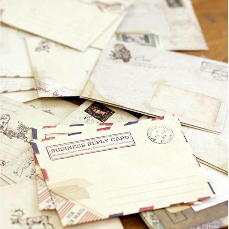 Perbandingan Harga 60pcs Amplop Surat Desain Kartu Pos