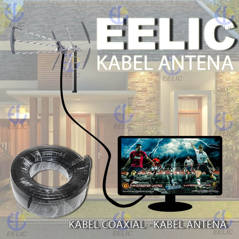 EELIC CSA-8620ED6 MIX PENGUAT SINYAL 20 dB CATV BOOSTER INDOOR 2W TELEVISI+ KAA-10M KABEL ANTENA TV | Shopee Indonesia