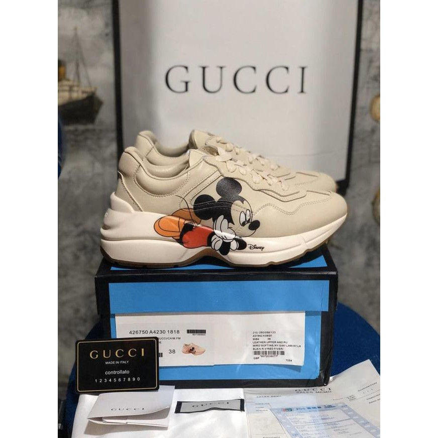 Supplier Sepatu Sneakers Murah Sepatu Gucci Rython Sneakers