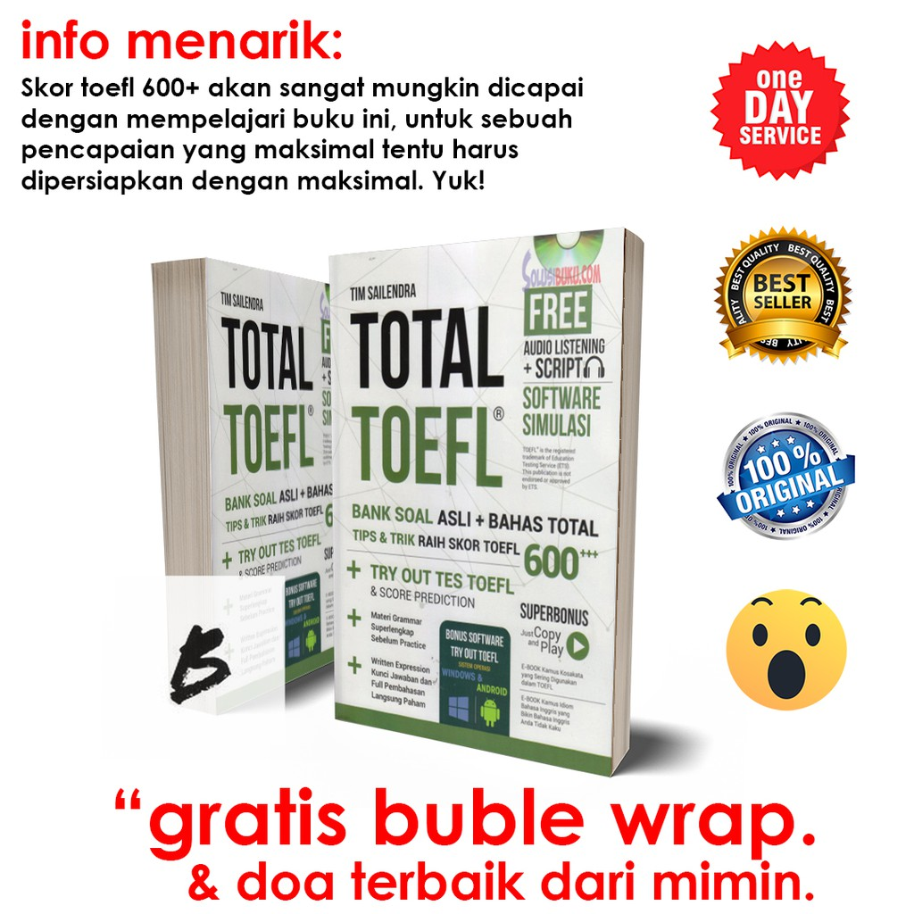 Erlangga Official Guide To The Toefl Itp Test 0084280020 Shopee