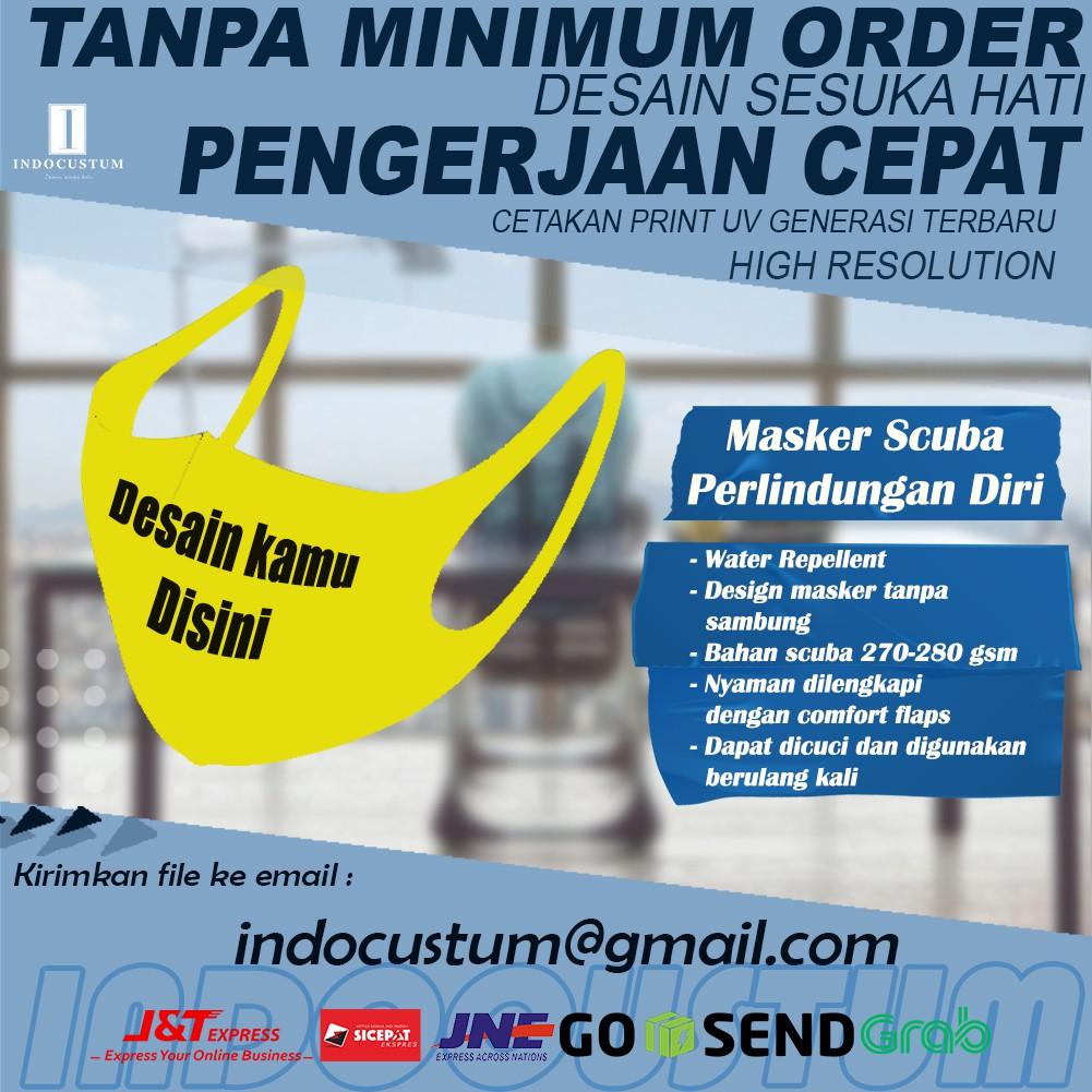 Masker Kain Scuba Full Printing Print Custom Souvenir Promosi Nonmedis Ic004 Shopee Indonesia