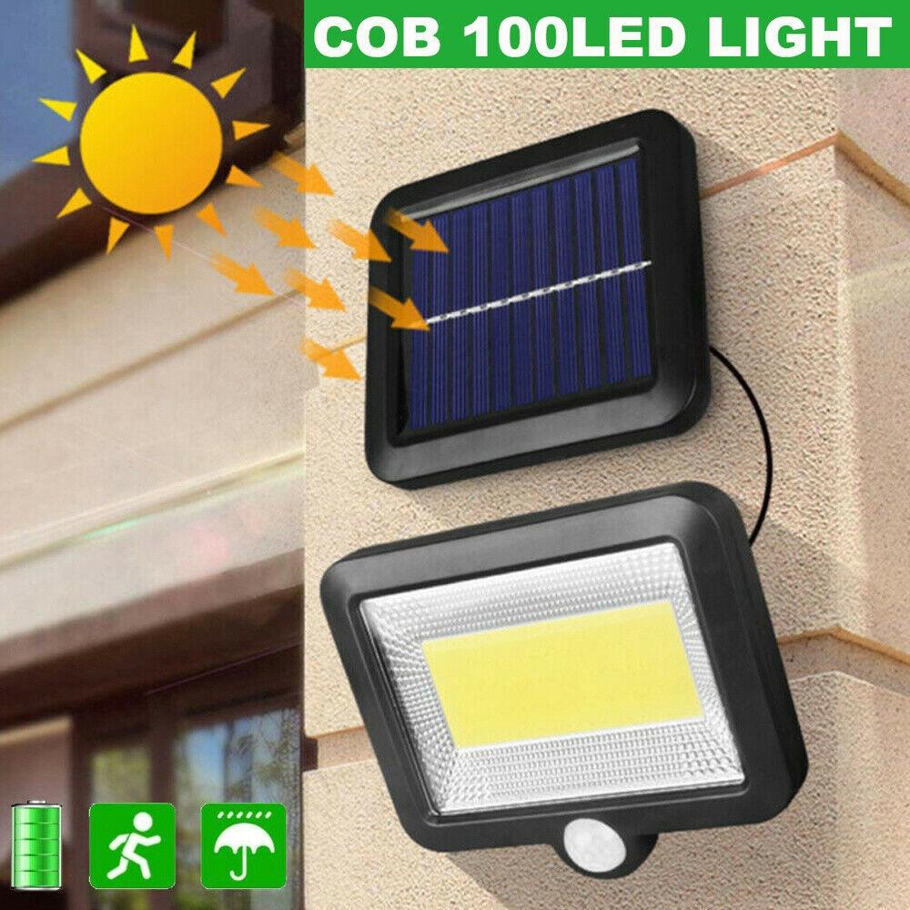 Lampu Sorot 100 Led Tenaga Surya Dengan Sensor Gerak Untuk Outdoor Taman Shopee Indonesia