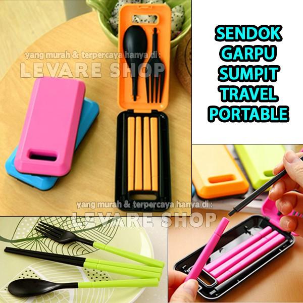 Sendok Garpu Sumpit Portable Lipat Travel / Wisata Warna Warni (FN20) | Shopee Indonesia