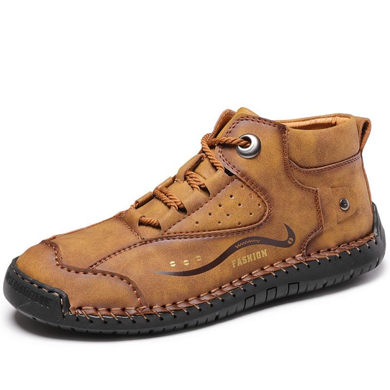 Sepatu Bot Kulit Pria Fashion Vintage Yang Nyaman Sepatu Karet Lembut Sepatu Yang Cocok Ws1269 Shopee Indonesia