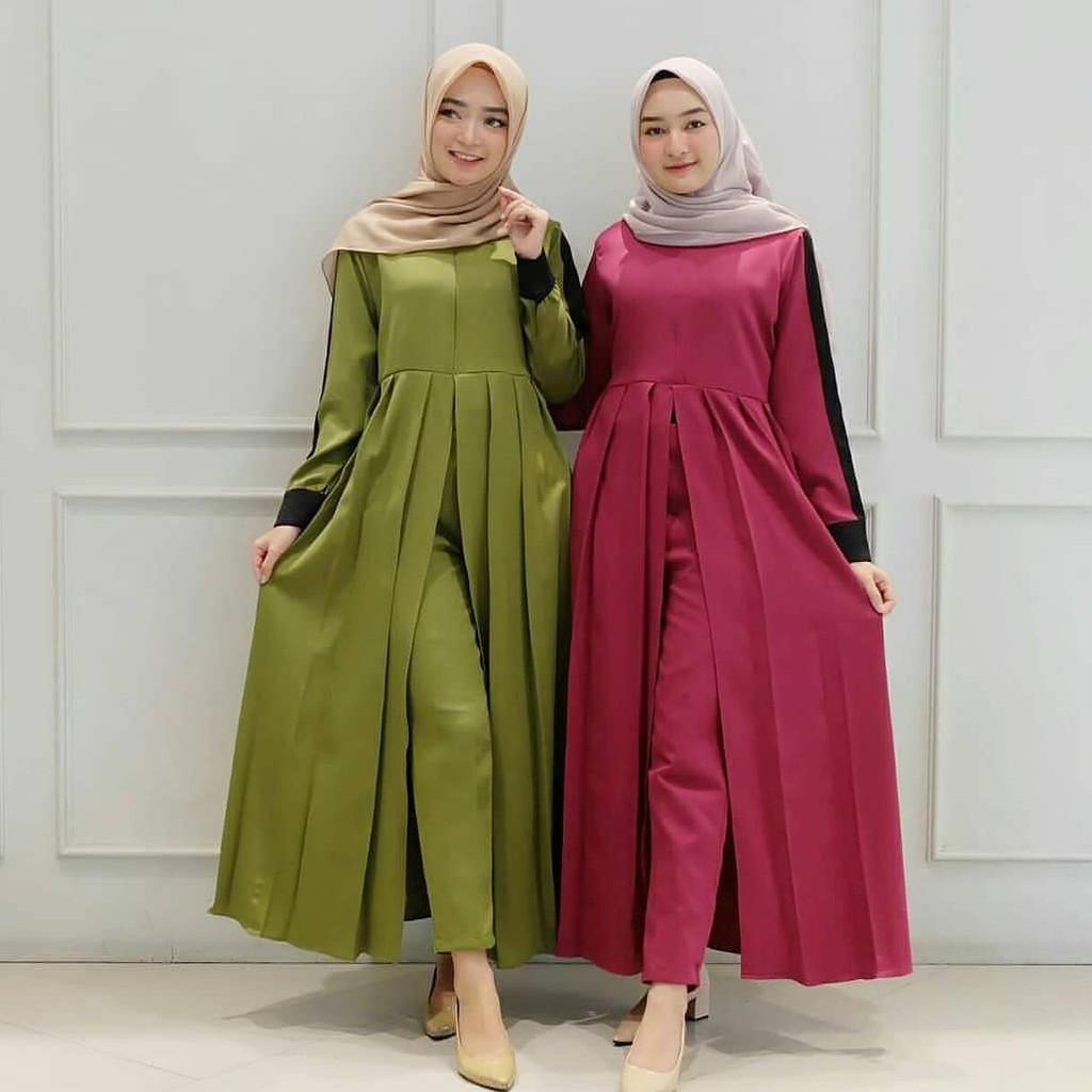 ANHA SET Baju Remaja Kekinian Fashion Wanita Muslimah ...