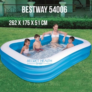 Bestway 54006 Kolam Renang Anak Keluarga Kotak Karet Besar