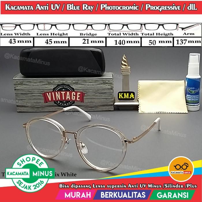 Frame Kacamata Minus Ursula Bulat Retro Round Vintage Classic Besi ... a9a30f957c