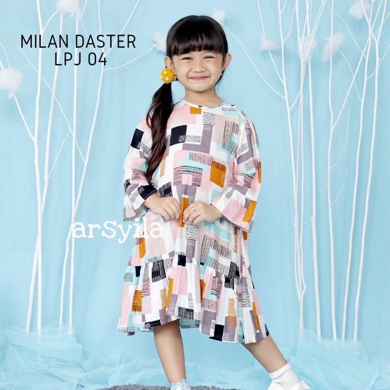 ANGGRAINI - ARSYILA - MILAN DASTER RAYON DASTER ANAK DRESS ANAK DASTER TRENDY BEST SELLER RECOMENDED