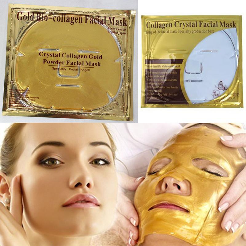 Masker Topeng Emas - Crystal Collagen Gold Facial Mask | Shopee Indonesia