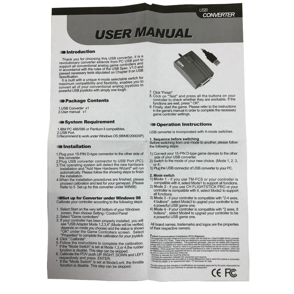 USB game port Adapter Rockfire RM-203 gameport