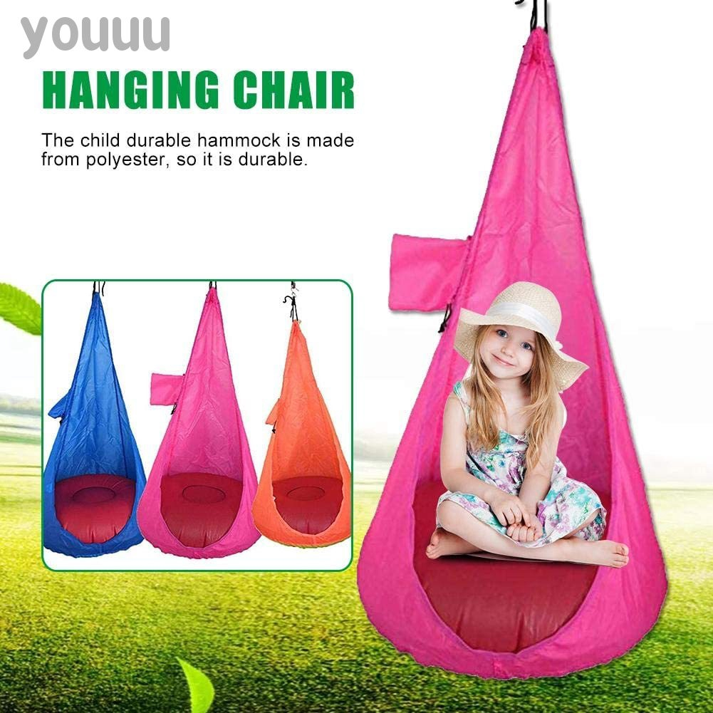 Home Child Hammock Chair Indoor Hanging Seat Kids Swing Foldable Hanging Toy Shopee Indonesia