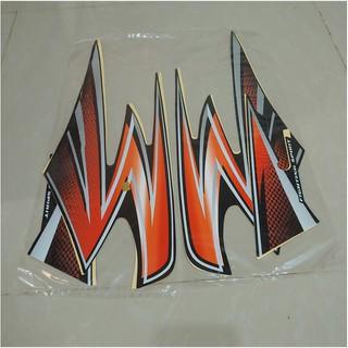 Discon Stiker Bodi & Lis Body & Striping Rxking 2003 Hitam Oren