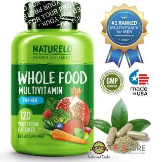 Best Multivitamin For Men >> Naturelo 1 Ranked Whole Food Multivitamin For Men 120 Capsules