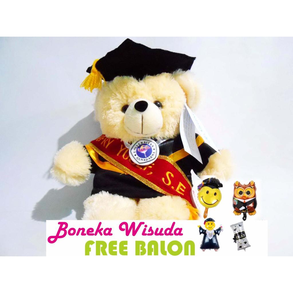boneka wisuda bisa COD - denmark bear  33f5b3ba29
