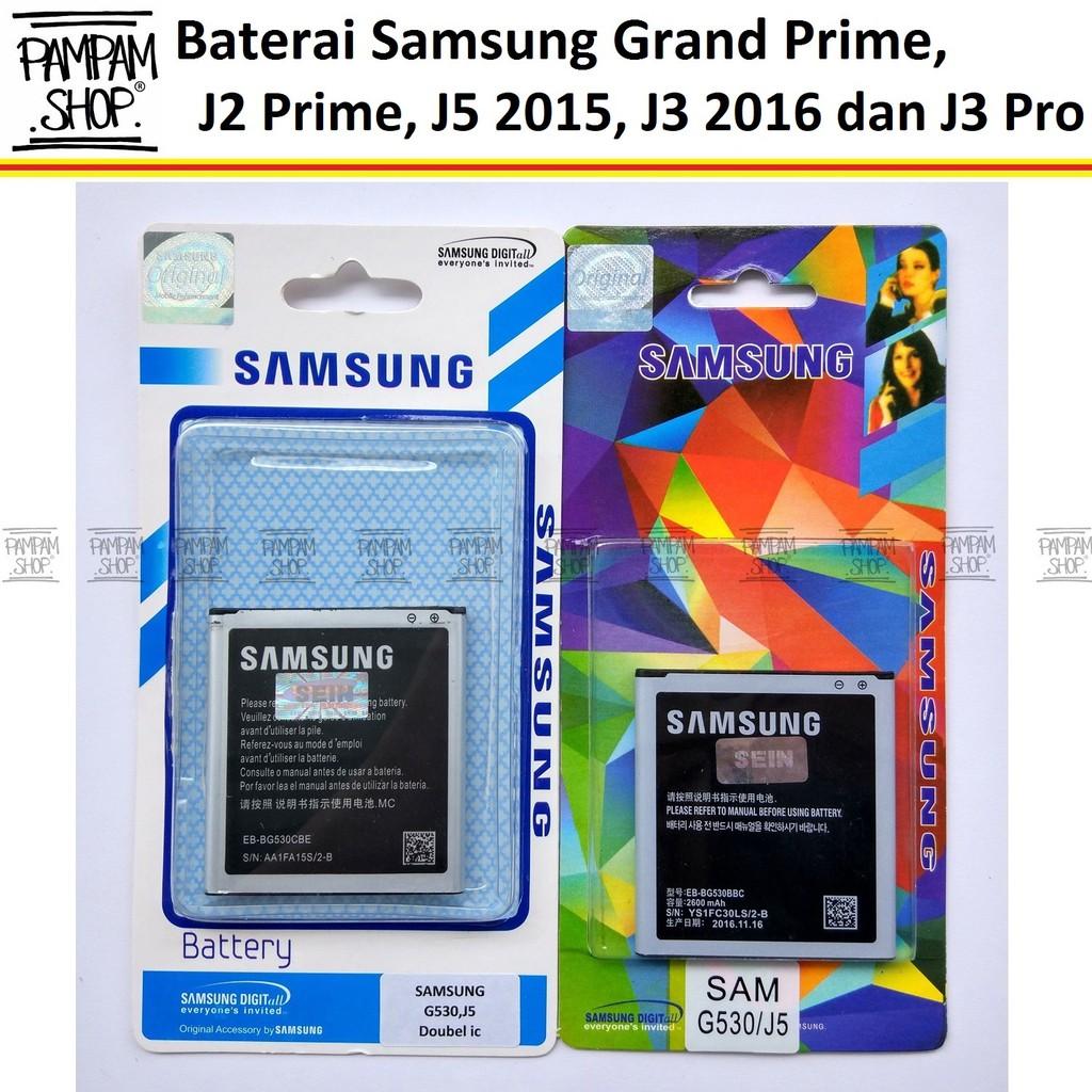 Baterai Handphone Samsung Galaxy J3 2016 J310 J320 Original OEM 100% | Batre Battery Batrai, HP SEIN | Shopee Indonesia