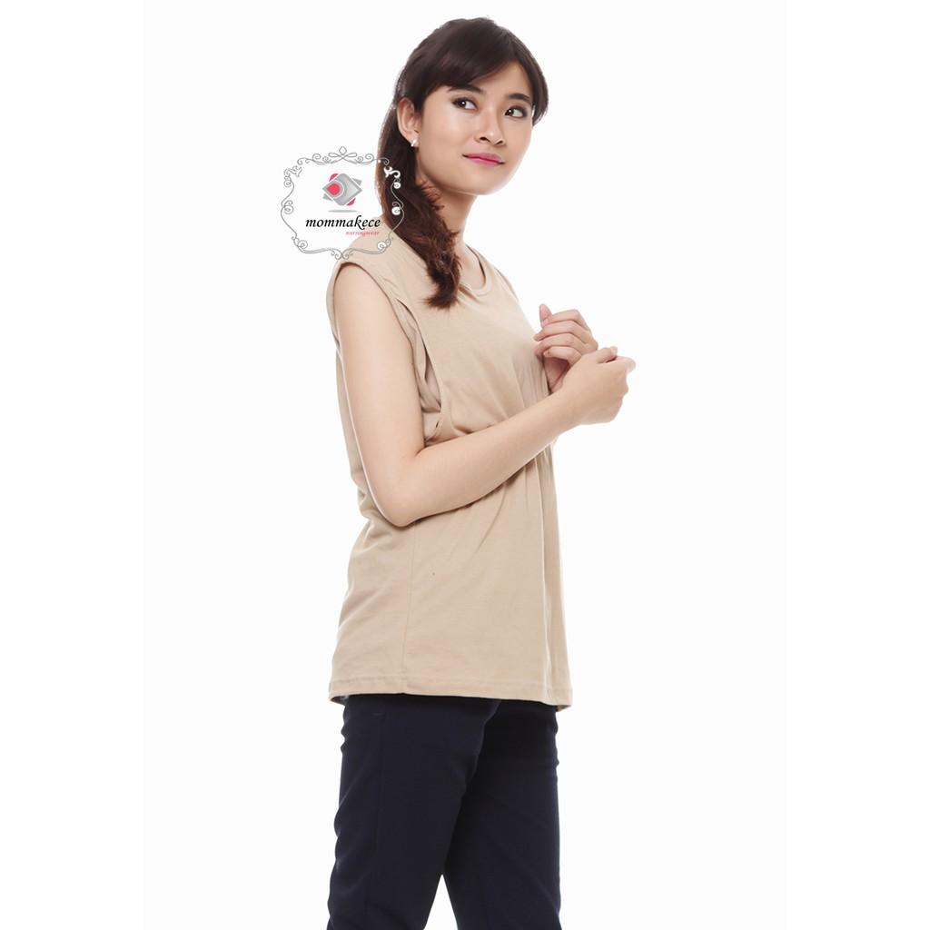 Baju Kaos Ibu Menyusui Busui By Kaosanakbayi Cotton Combed 30s Justmom Sania Black Stripe Sn115 Lengan Panjang Murah Shopee Indonesia