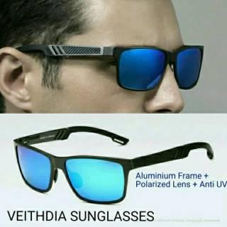 VEITHDIA Original kacamata Pria Polaroid l Polarized anti silau UV Original  Terlaris 6560 e5ad00965b