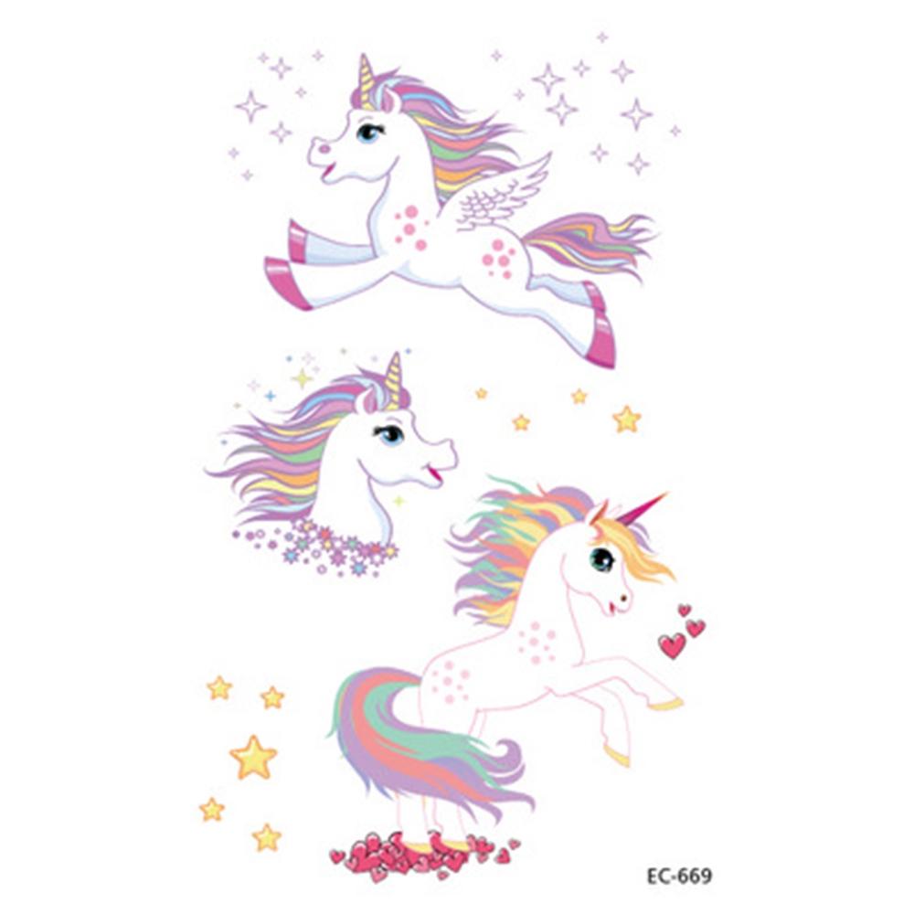 Qipin Stiker Tato Temporer Motif Kuda Poni Warna Warni Tahan Air Untuk Anak Perempuan Shopee Indonesia