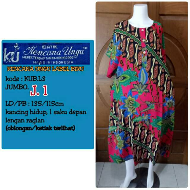 Daster Kencana Ungu Label Biru BIG