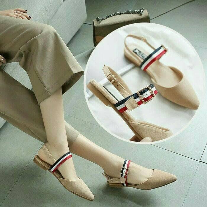 Sepatu Wanita Flat Shoes Jovina Nude Cream Murah