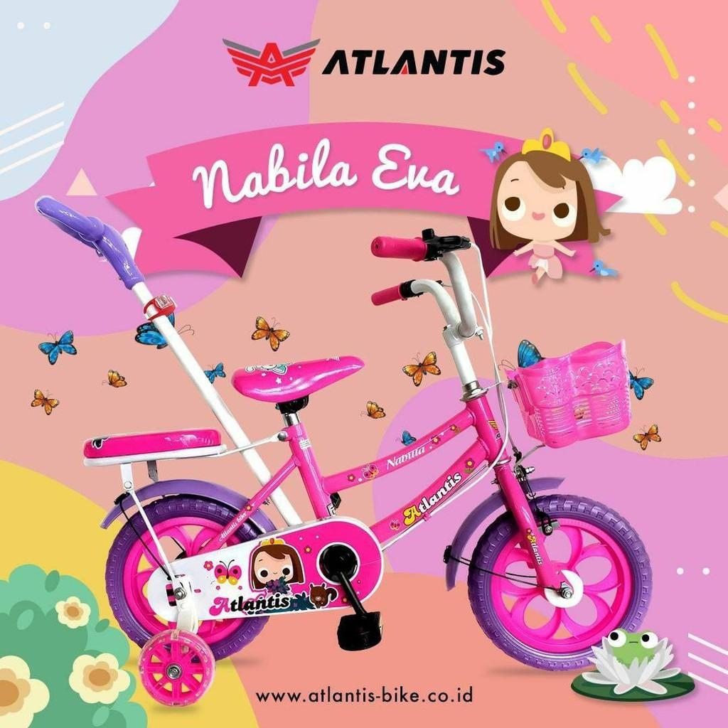 Sepeda Anak Atlantis Nabila Memakai Dorongan Ukuran 12 ...