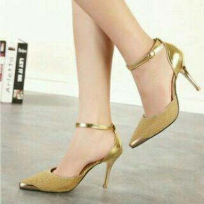 kaluna Sepatu Wanita High Heels Hak Tahu Pearl Black. Source · Sepatu .
