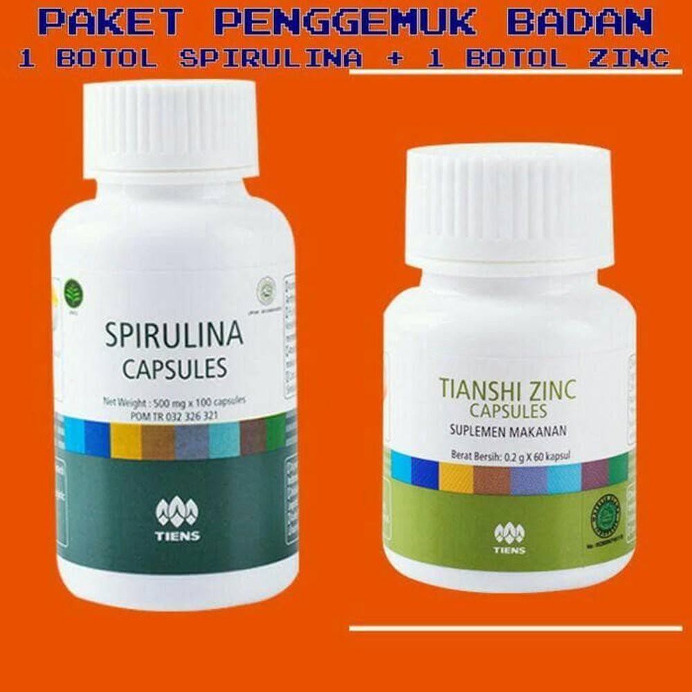 TIENS PENGGEMUK BADAN HERBAL / ZINC 30 PCS + SPIRULINA 30 PCS / 100% ORIGINAL   Shopee Indonesia
