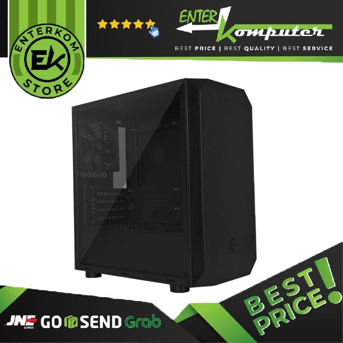 Cube Gaming Kellva Black Matx Tempered Glass Casing Pc Gaming Diskon Shopee Indonesia
