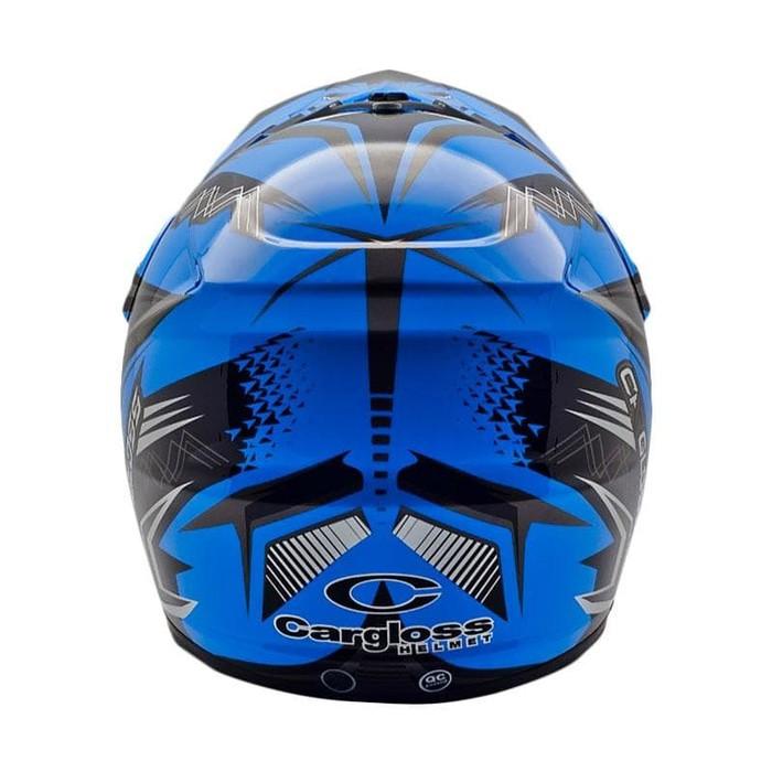 Cuci Gudang Helm cross Cargloss MXC Supercross - Grey Black Blue | Shopee Indonesia