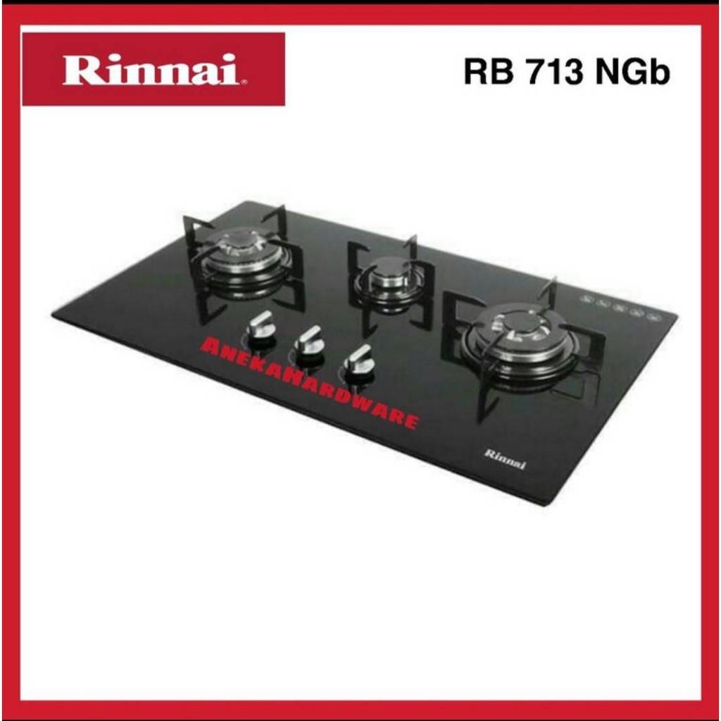 Kompor Gas Tanam Rinnai RB 713 NGB / kompor Gas 3 Tungku