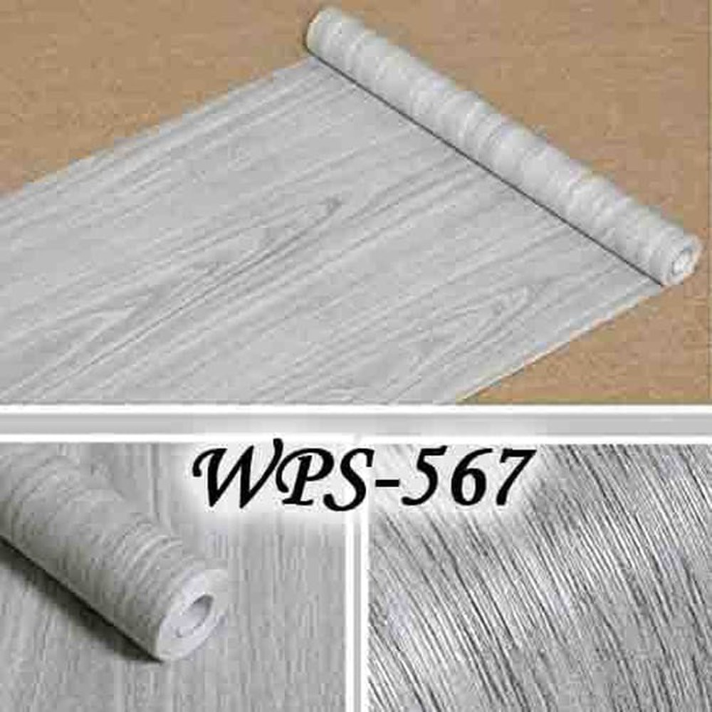 Lucu Wallpaper Sticker 45Cmx5M Wps567 Grey Wood Hot Sale