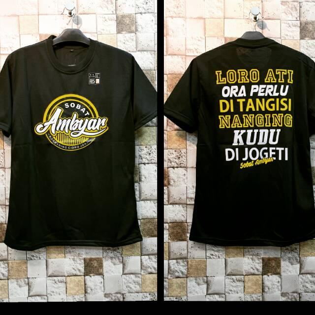 Kaos Sobat Ambyar Katun Murah Shopee Indonesia