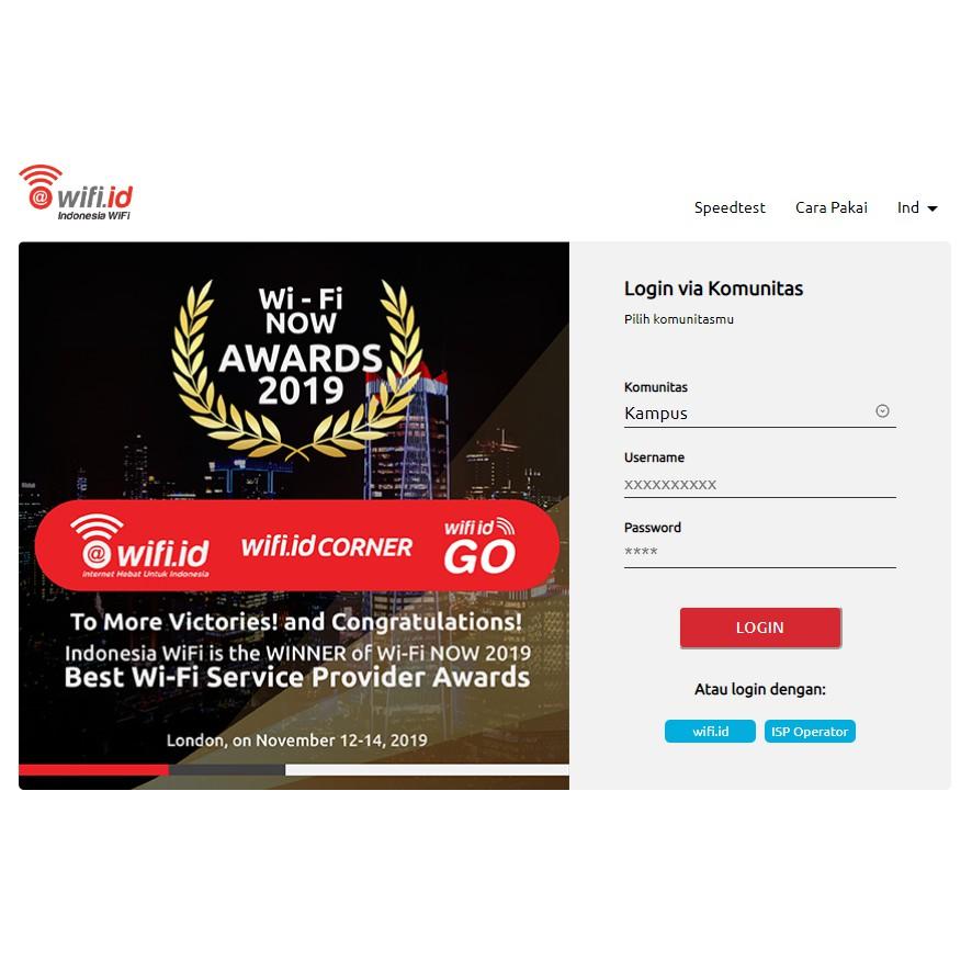 Akun Wifi Id Komunitas Kampus Permanent Terbaru 2020 Bergaransi Shopee Indonesia