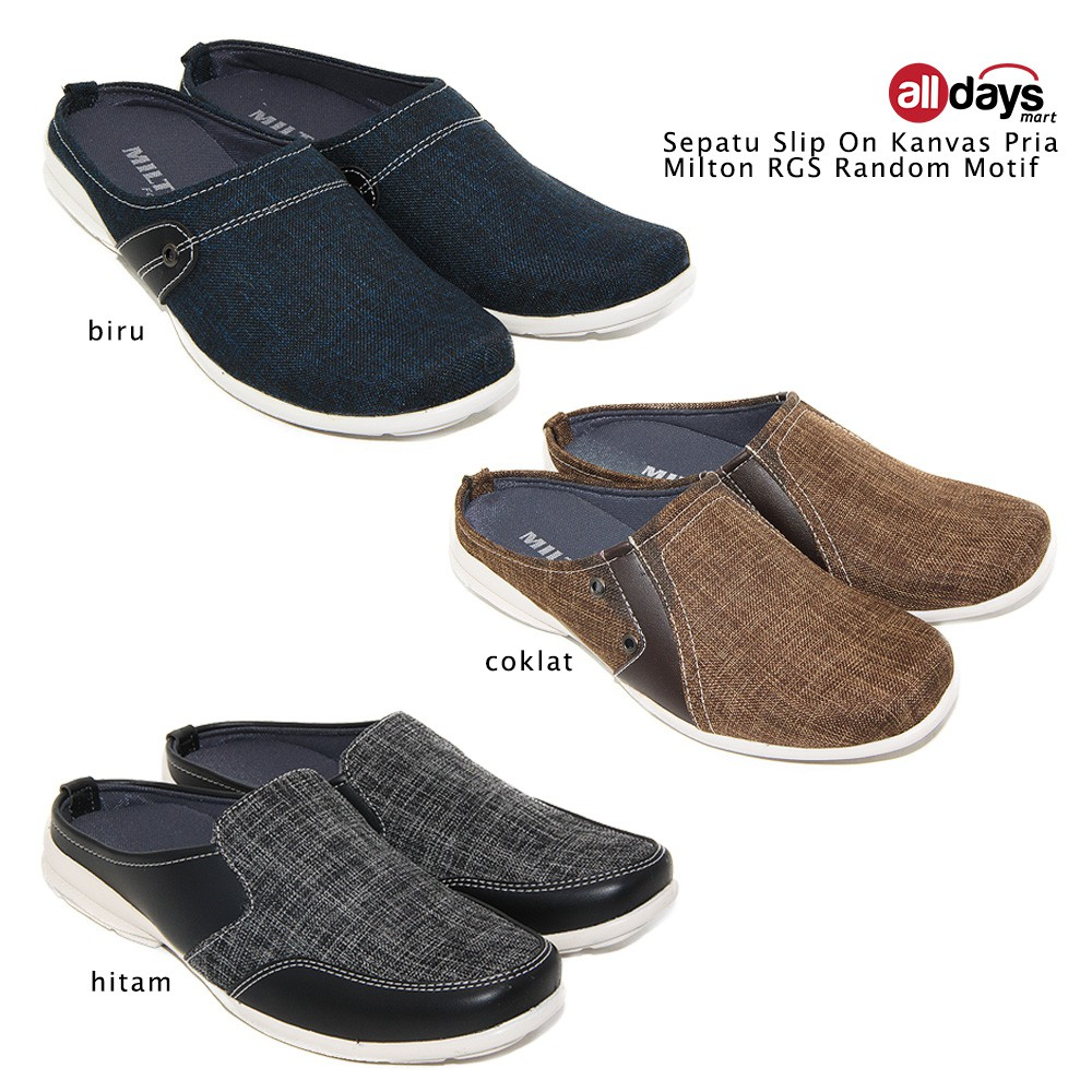 Dr Kevin Mens Slip On Shoes 13314 Grey Shopee Indonesia Women Casual 43207 Black Hitam 38