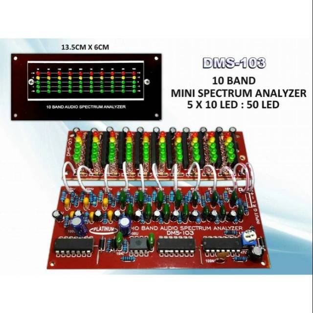 SPECTRUM ANALYZER 10 BAND DMS-103